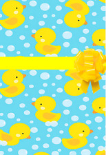 Yellow Duck Gift Wrap Wrapping Paper