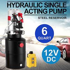12 Volts Hydraulique Unité Pompe Hydraulique 6 Litres 12v Puissance éLectrique