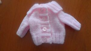 Hand knitted baby girl/Premature cardigan premature - -0-3 months