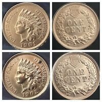 1901 & 1902 INDIAN HEAD PENNYS 4 DIAMONDS***BEAUTIFUL COINS***Cleaned
