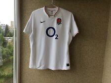 England Home Rugby Union Shirt 2009/2011 Jersey M Nike Camiseta White