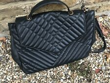 MANGO QUILTED FAUX LEATHER SHOULDER BAG BNWOT