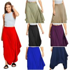 Ladies Draped Harem Baggy Ali Baba Lagenlook Pants Womens Hareem Stretch Trouser