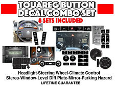 VW Touareg Peeling Button Repair Decal Sticker Set Steering Wheel Climate etc.