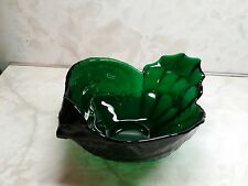 """VIKING Emerald Green Chicken Bowl 9.5"""" With Label USA"""