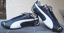 US Sz 7.5 PUMA Future Cat Men Leather 10 Ferrari Mystic Blue White Sneaker Shoe