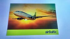 Air Baltic Airline Issued Postcard Summer 2015