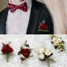 Girl Wedding Charm Roses Bridal Wrist Flower Corsage Bracelet Groom Boutonniere