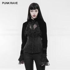 PUNK RAVE Women Short Jacket Gothic Punk Weft Velvet Long Sleeves Shawl Jacket