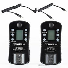 YONGNUO RF605N 605 Flash Speedlite Trigger Set Wireless w/ LCD for Nikon Camera