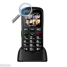Mc Onsen MC91 Mc Barry Easy Nero Telefono Cellulare per Anziani con Lente