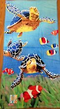 "30"" x 60"" Turtles Lake, Beach, Pool Towel 100% Cotton NWT"