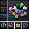 Wholesale 10mm Rose Flower Resin Charms Loose Spacer Beads DIY Crafts