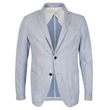 Armani collezioni-bleu/blanc linen blazer-taille 50 (uk 40) - rrp £ 465
