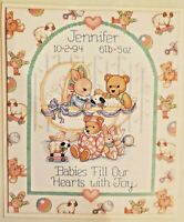 """BabyHugs Counted Cross Stitch Kit Nursery """"Babies Fill Our Hearts with Joy"""""""