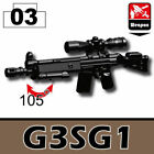 SIDAN Black G3SG1 Sniper Rifle Weapons for Brick Minifigures