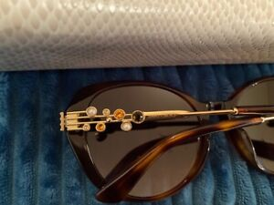 NEW £350 GENUINE WOMENS JIMMY CHOO OVERSIZE SUNGLASSES  ORLY/F/S LHF 56 18 140