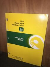 "John Deere ""Operators Manual"" 3710 Drawn Rigid Moldboard Plow. Original Copy."