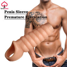 Penis Extension Sleeve Premature Ejaculation Aid Cock Ring Adult Sex Toy B16