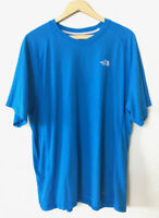 The North Face Men's Royal Blue T-Shirt FlashDry Logo Short Sleeve Size XXL