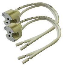 2 x G6.35 GX5.3 Bi Pin Ceramic Halogen Lamp Holder Up To 24v 250w Light Bulb