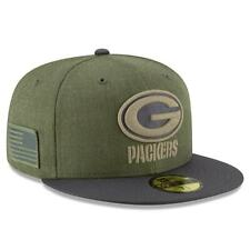 New Era 59Fifty NFL Salute to Service Sideline Green Bay Packers Cap Sz 7 1/4