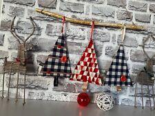 Dekofigur Weihnachtsdekoration Weihnachtsbaum Tanne Stoff Deko Handarbeit 3Stk.