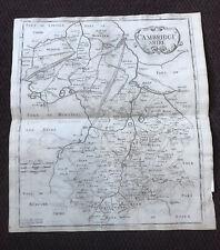 1695 COUNTY of CAMBRIDGESHIRE Original English Antique Map  Robert Morden RARE