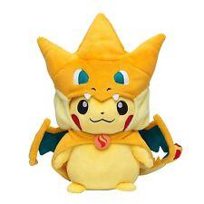 Pokemon Center Pikachu Plush Doll Mega Charizard Y Stuffed Toy 10 inch Xmas Gift