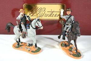 """Britain 17402 Amer Civil War """"Confederate Bugler and Sergeant"""" 54mm Miniatures"""
