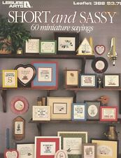 Leisure Arts 388 SHORT & SASSY 60 Mini Sayings for Counted Cross Stitch 1985