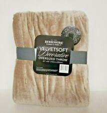 "VelvetSoft Decorative Oversized 60"" x 80""  Tan Throw by Berkshire Blanket, Home"