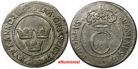 SWEDEN Carl XII Silver 1667 4 Ore First Date Type Mintage-473,000 SCARCE KM# 257