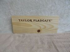 TAYLOR'S FLADGATE  VINTAGE PORT WOOD WINE PANEL END