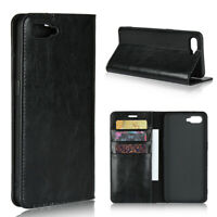 Luxury Genuine Leather Wallet Flip Case Stand Cover For Oppo R17 Pro / R17 Neo