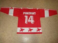 "Kölner Haie Adidas Eishockey Trikot 1986/87 ""Goldstar"" + Nr.14 Pokorny Gr.XL TOP"