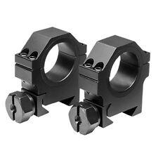 """Medium Tall 1"""" 30mm Black Aluminum Scope Rings Fits Spyder HAMMER BT TM15 Elite"""