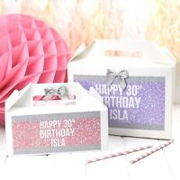 PERSONALISED BIRTHDAY GIFT BOX - SPARKLE GLITTER BLING - HEN PARTY FAVOUR BAG