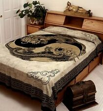 "Hippie Tapestry/Bedspread Yin Yang Dragon 88"" x 104"" Full Size SD098-01"