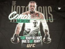 "Men 3XL Notorious CONOR McGREGOR ""Stay Ready, Get Ready"" UFC T-SHIRT Fighter MMA"