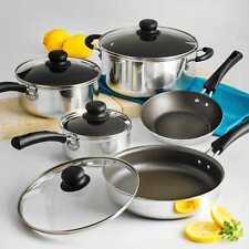 9 Piece Essential Nonstick Cookware Set Pots And Pans Kitchen Non Stick Cooking