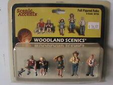 WOODLAND SCENICS FULL FIGURE FOLKS O SCALE FIGURES