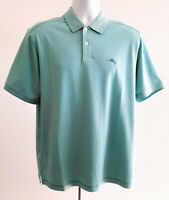 Tommy Bahama Marlin Polo Shirt Short Sleeve Size Medium Mint Green Mens Golf