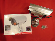 CCD-Dummy-Kamera mit LED-Lampe mit Wandmontage-und Befestigsmaterial