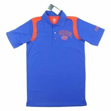 Knights Apparel Men's Florida Gators Performance Polo Shirt (Blue/Orange, Small)