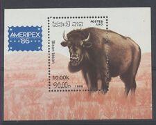BISON Laos 1 bloc de 1986 ** NEUF PORT OFFERT MNH POSTFRISCH LUXE