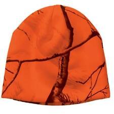 "Blaze Orange Camo Camouflage Realtree AP All Purpose 8"" Beanie Hat Hunting"
