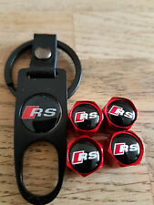 AUDI RS RED DUST VALVE CAPS AND BLACK SPANNER LIMITED ALL MODELS BOXED
