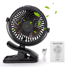 Clip On Electric Fan Cooling Mini 3 Speed Adjustable Tilt Comfort Zone New Black