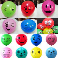 10Pcs  Face Expression Latex Colorful Balloons Birthday Party Wedding Decor